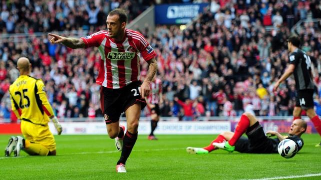 Sunderland's top scorer Steven Fletcher