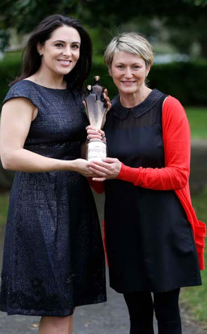 Gill Waters with Gráinne Seoige