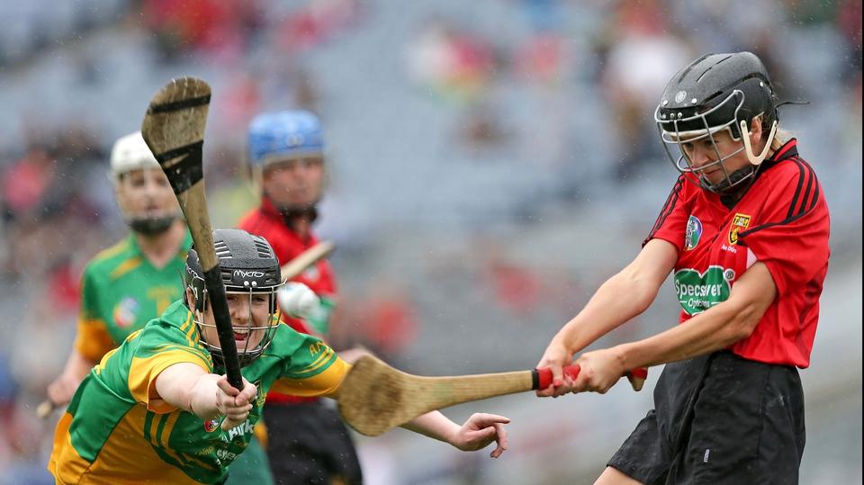 Meath's Sinead Hackett attempts to block down Grainne O'Higgins