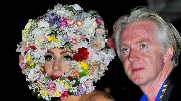 Philip Treacy with Lady Gaga -