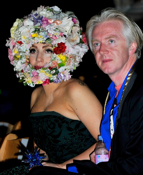 Phillip Treacy with Lady Gaga