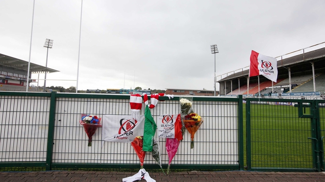 Fans have been paying their respects to Nevin Spence at Ravenhill