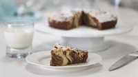 Marbled chocolate crumb cake - From Rachel Allen's new series, Cake Diaries.