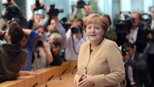 Angela Merkel said that talks were ongoing but that no changes to the Irish bailout programme were on the agenda at the moment