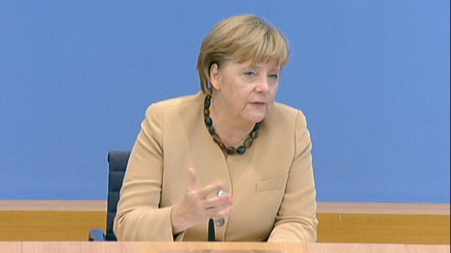 Angela Merkel said financial markets lacked confidence in some eurozone states