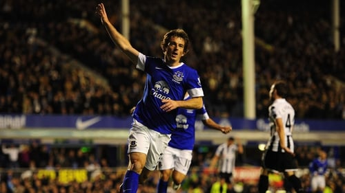 Leighton Baines opened the scoring at Goodison Park