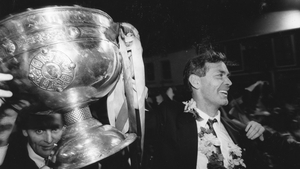 Brian McEniff with the Sam Maguire