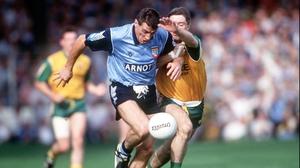 Jack Sheedy of Dublin is pursued by a certain Martin McHugh