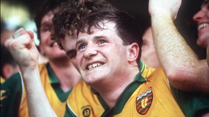 Manus Boyle can barely contain his joy