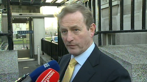 Enda Kenny spoke to the media ahead of this morning's Cabinet meeting