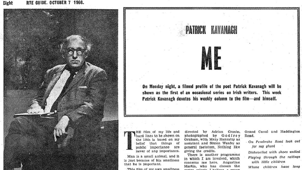 RTÉ Guide, 7 October, 1966, page 8. Patrick Kavanagh: Me