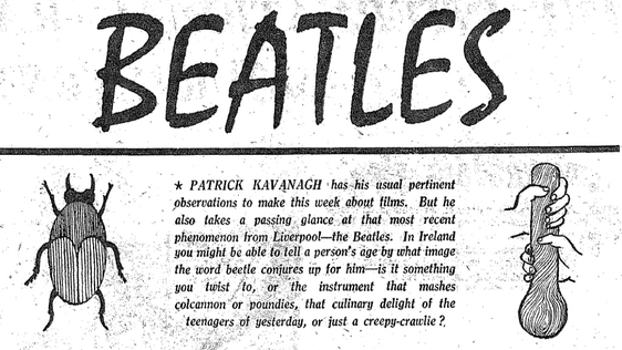 RTV Guide, 1 November, 1963, page 4. Patrick Kavanagh comments on The Beatles.
