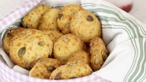 Cheese and Mixed Seed Lunch Cookies
