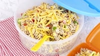 Cheesey Tuna and Sweetcorn Pasta Salad - A classic pasta dish.