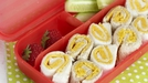 Cheese Pinwheel Sandwiches - Kids will love these fun sandwiches in their lunchboxes