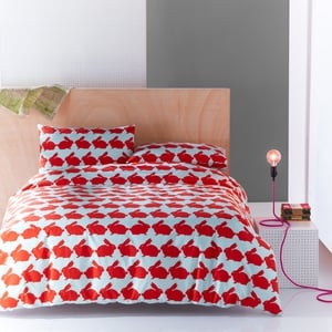 Duvet sets consist of a duvet cover with matching pillowcases in 100% Cotton fabric. They are available in Single, Double, and King sizes.