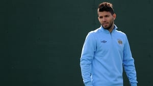 Aguero, seen training at the Bernabeu, was strongly linked with a move to Real before moving to Eastlands in 2011