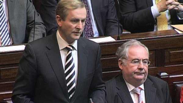 Enda Kenny rejected Sinn Féin's assertion that Minister Reilly has a conflict of interest