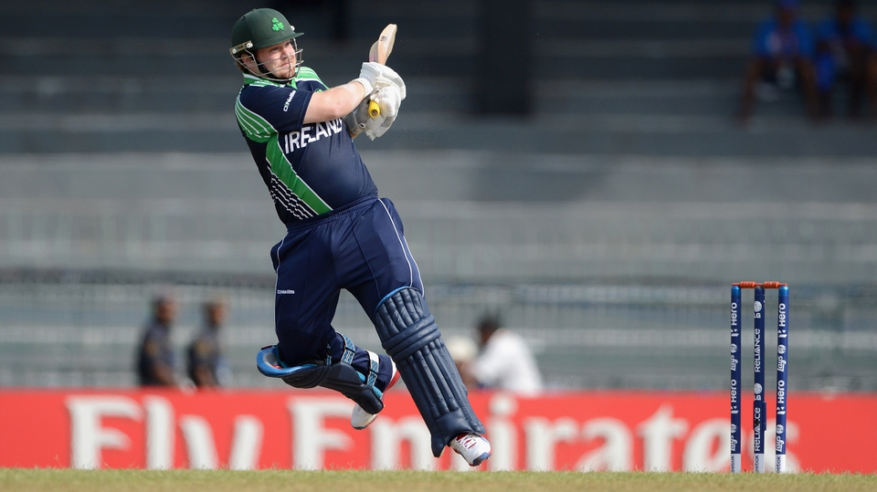 Paul Stirling failed to get going and was out for seven after facing 12 balls
