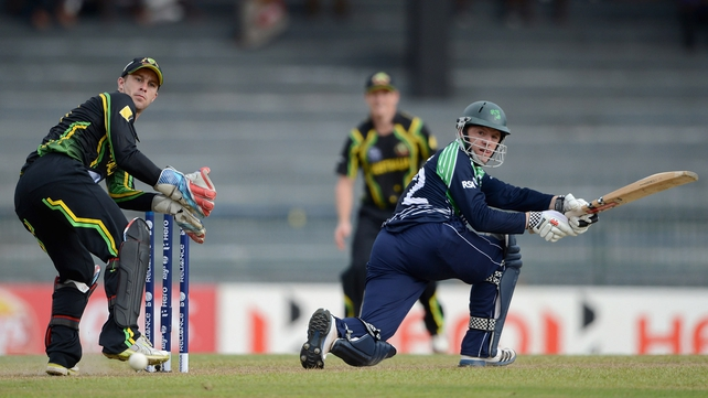 Niall O'Brien played some creative cricket and formed a decent partnership with his brother Kevin but Ireland only managed to post 123.
