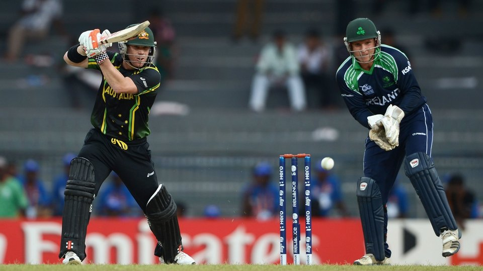 David Warner and Ireland wicketkeeper Gary Wilson kept the banter going throughout the encounter in Colombo