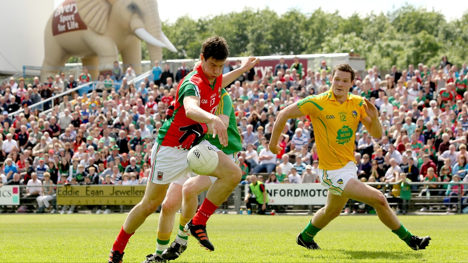 Mayo's Alan Freeman scores his side's opening goal of the game as the Westerners ran out 4-20 to 0-10 winners