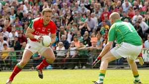 Mayo's Andy Moran finds himself one-on-one with Leitrim goalkeeper Cathal McCrann