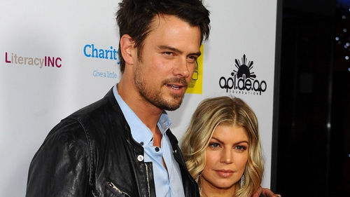 Josh Duhamel with his wife Fergie, who is expecting their first child