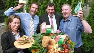 Tara McCarthy, Director, Food & Beverage Division, Bord Bia, John Paul Crowe, Minister Shane McEntee and TJ Crowe
