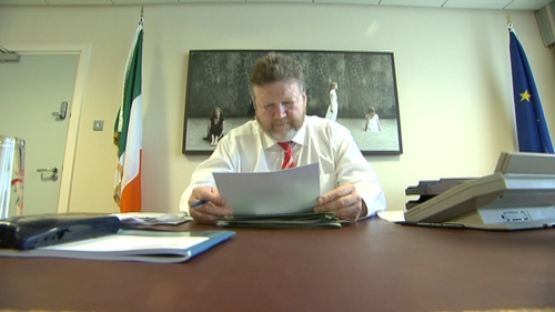 Minister for Health James Reilly did not bring the draft heads of the legislation to Cabinet today