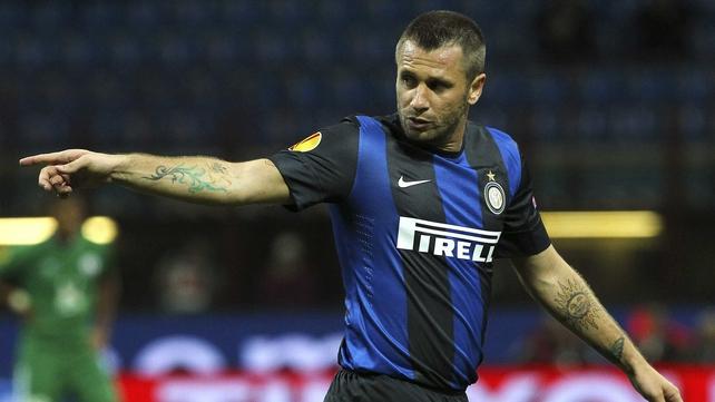 Inter Milan and Italy striker Antonio Cassano
