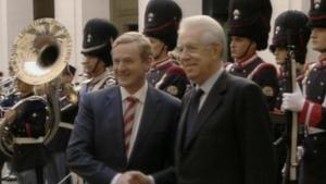 Enda Kenny mets Mario Monti in Rome today