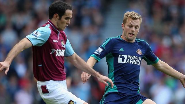 Ireland international Joey O'Brien helped West Ham to a point