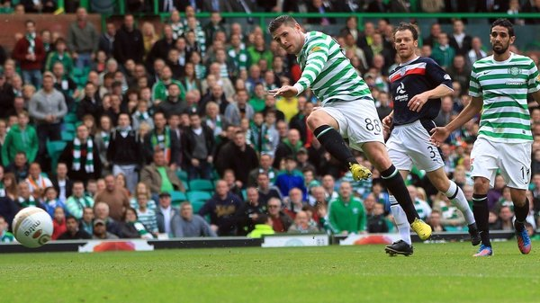 Gary Hooper was again on target for the Bhoys