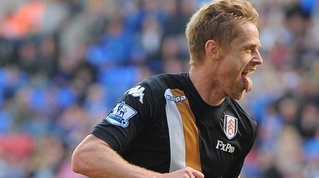 Damien Duff added a second goal for Fulham midway through the second half