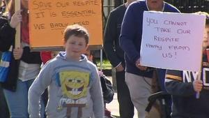 Protesters claim that children's respite centre is already under pressure.