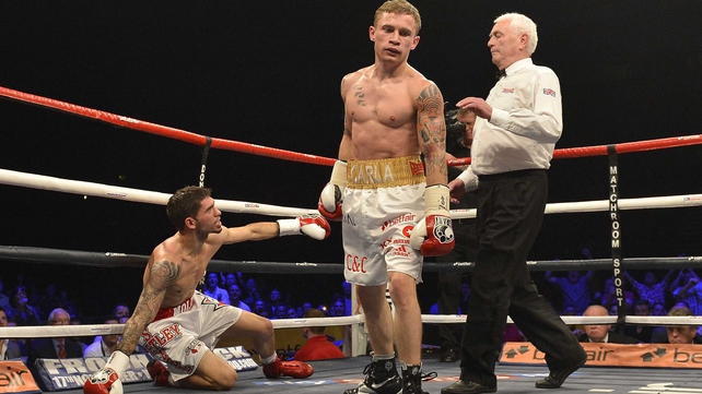 Carl Frampton dominated his Canadian opponent at the Odyssey