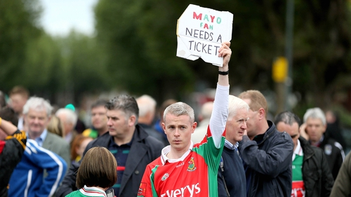 There were plenty of supporters looking to get their hands on a precious ticket outside Croke Park