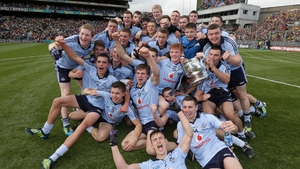 The Dublin minor squad celebrate their success