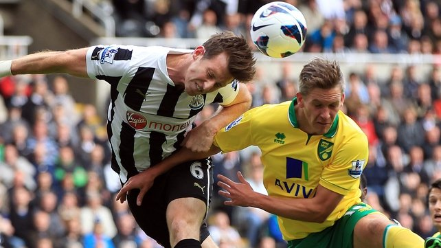Newcastle have beaten Norwich 1-0 in the English Premier League