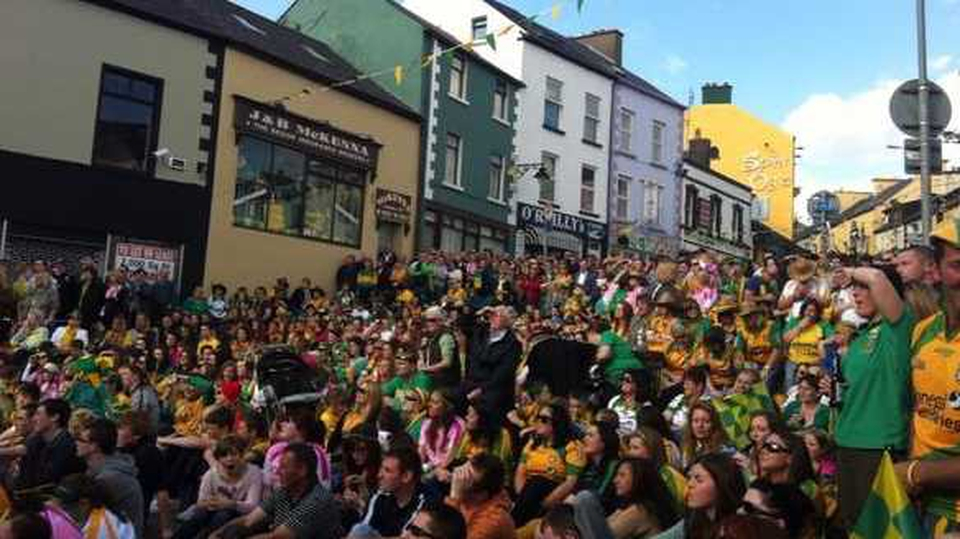 The good people of Ballyshannon, Co Donegal, were watching the game