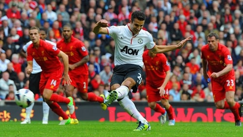 Robin van Persie's late peno won the game for Man United