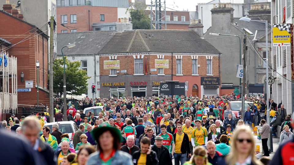 Meanwhile, thousands of fans were making their way to Croke Park