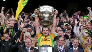 Michael Murphy becomes only the second Donegal captain to lift the Sam Maguire Cup