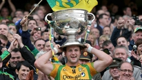 Donegal captain Michael Murphy talks to RTÉ's Brian Carthy