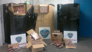 The cigarettes arrived on a vessel from Zeebrugge in Belgium