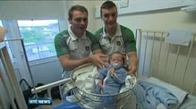 Donegal's All-Ireland winners visit children's hospital ahead of homecoming