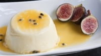 Passionfruit Panna Cotta with Blackcurrant Sorbet and Orange Shortbread - A great recipe from MasterChef Ireland finalist, Brídín Carey