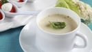 Cauliflower and Stilton Soup - Cauliflower is always good with cheese, but not many people realise that it's even better with blue cheese, especially with really mature Stilton that has turned very blue and very creamy.