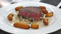 Fillet of Steak with Pomme Dauphine and a Creamy Mushroom Sauce - A sumptuous and classic main from MasterChef Ireland 2012